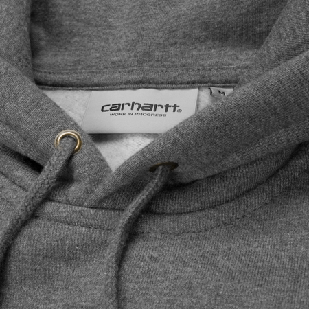 CARHARTT Bluza Hooded Chase Sweatshirt Dark Grey Heather/Gold - FW17