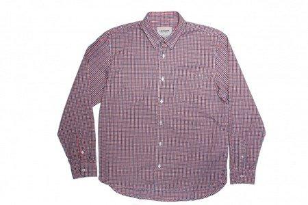 CARHARTT Koszula Bass Shirt Bass Check/Red Check