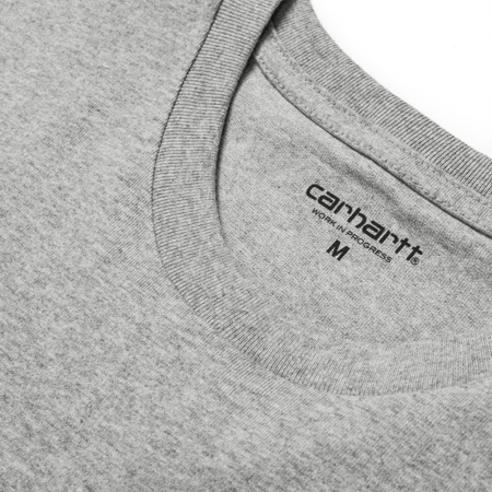 Carhartt Koszulka S/S College Script T-Shirt Grey Heather/White - SS18