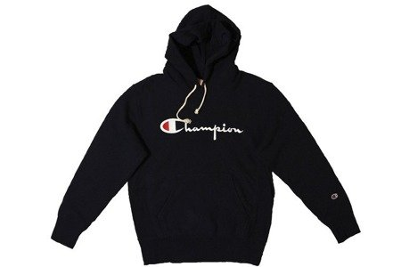 Champion Bluza Reverse Weave Big Logo Hooded Sweatshirt Navy - SS20