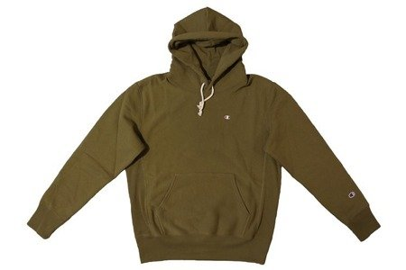Champion Bluza Reverse Weave Small Logo Hooded Sweatshirt Khaki - SS20