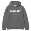 CARHARTT Hooded College Sweatshirt Dark Grey Heather/White - FW17